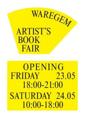 Artist's Book Fair Waregem Flyer