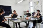 Cyanotype and bookbinding - workshop at Blaues Glück, Berlin